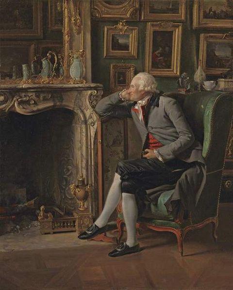 Le baron de Besenval dans son salon de compagnie, Henri-Pierre Danloux (1753-1809), huile sur toile, 1791, Londres, National Gallery.