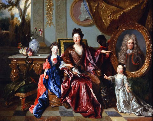 Nicolas de Largillierre - La marquise de Noailles et ses filles