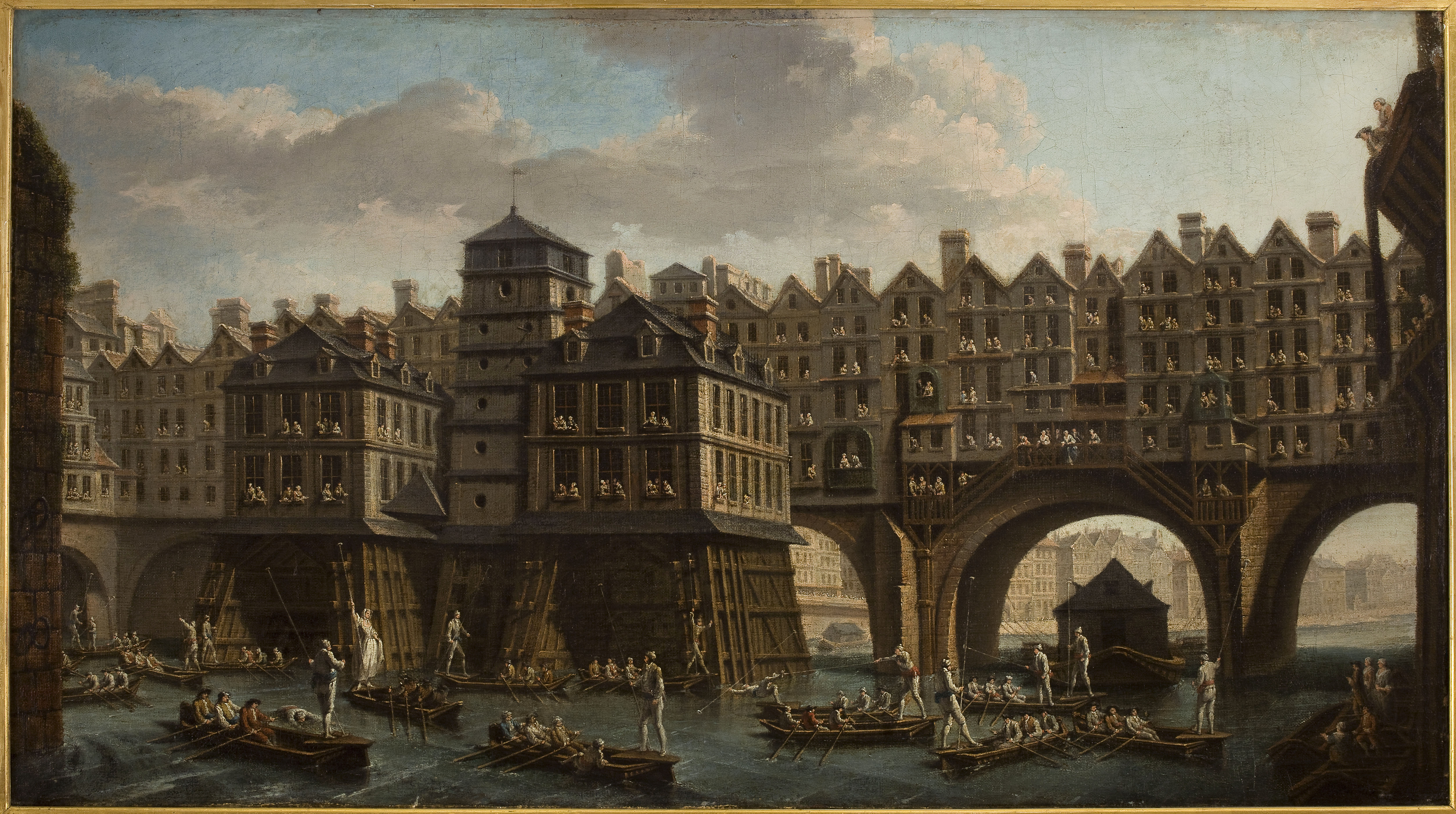 La joute des mariniers entre le pont Notre-Dame et le pont au Change
