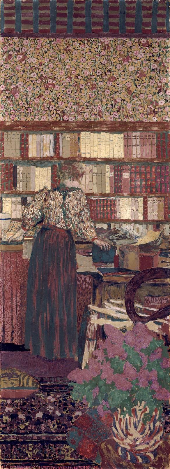 Personnages dans un intérieur : le choix des livres