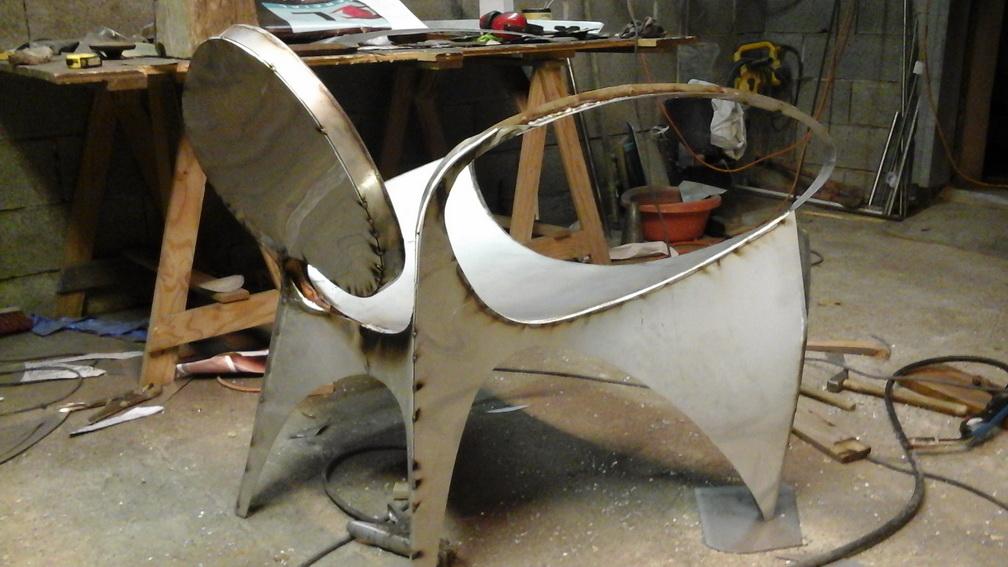 chaise inox 3