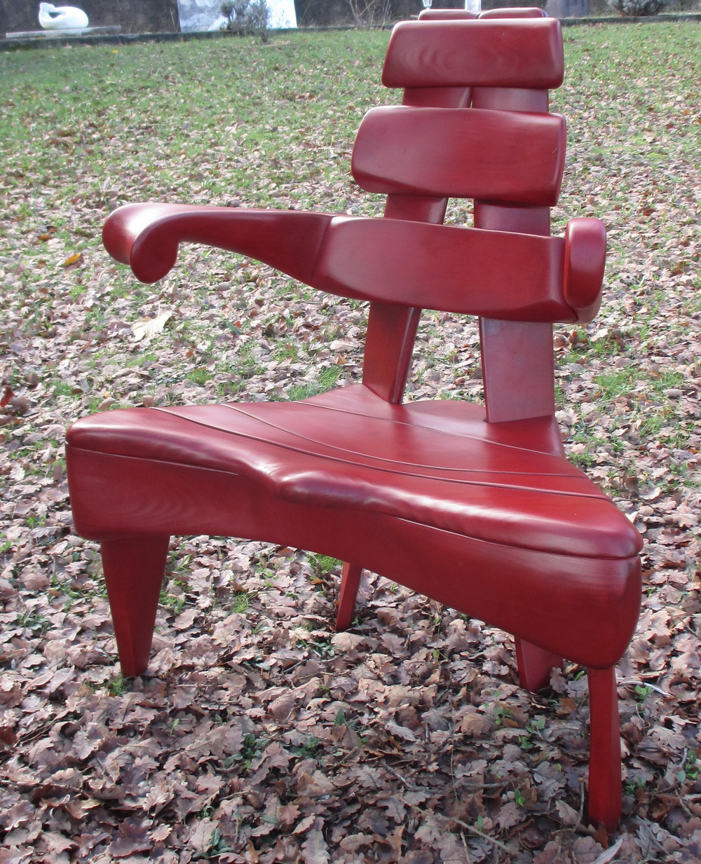 fauteuil en largeur rouge 6