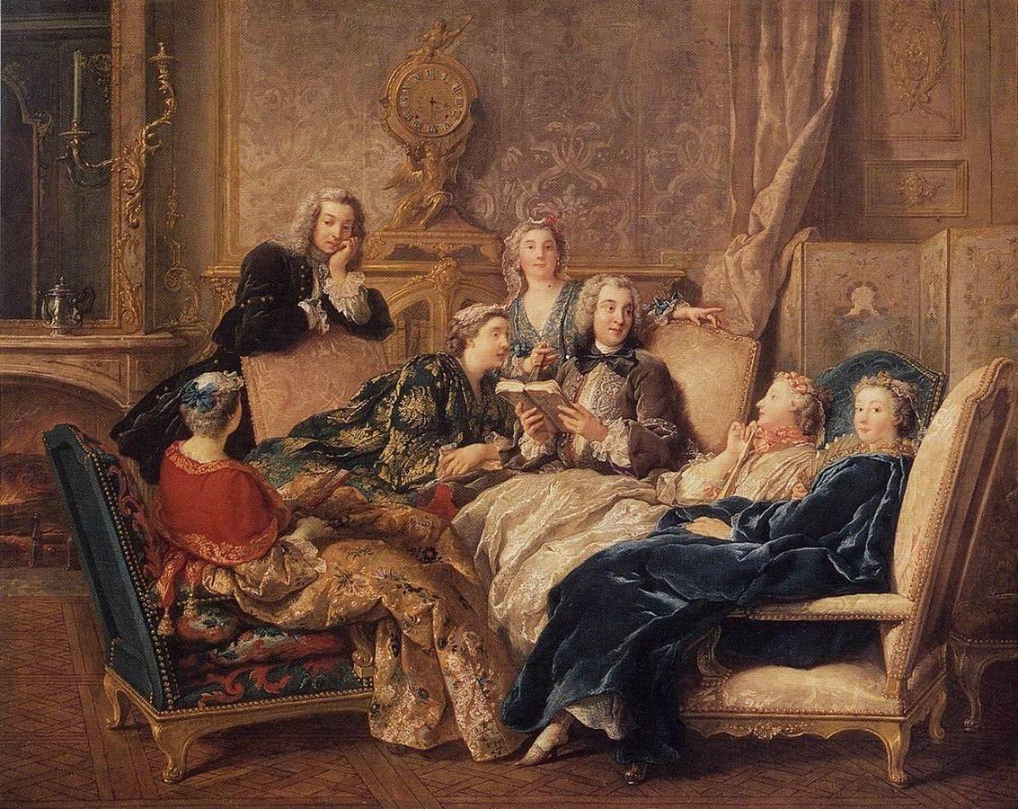 06 DeTroy, la lecture de Molière, libre de droits wikimedia commons