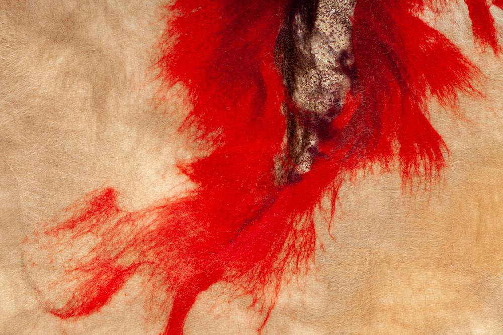 09 OOLMOO-Impetuous, détail tableau textile - ©Philippe Laurençon
