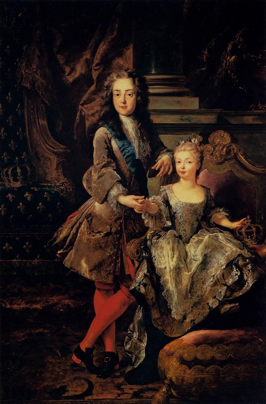 Louis_XV_with_Marie_Anne_Victoire_d'Espagne_by_François_de_Troy,_Pitti