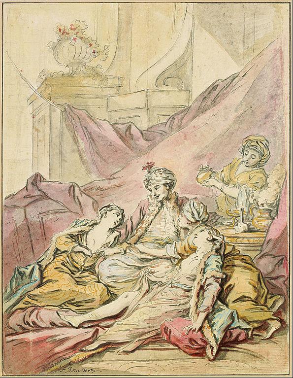 595px-Francois_Boucher_-_The_Pasha_in_His_Harem,_c._1735-1739_-_Google_Art_Project